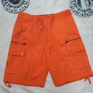 Polo By Ralph Lauren Orange Cargo Shorts Size 36